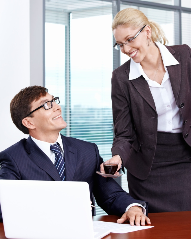 Percentage of secretaries sex boss