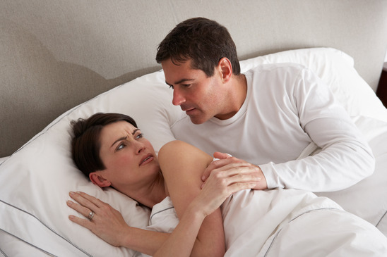 Couple With Problems Having Disagreement In Bed